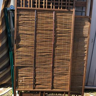 昭和の木製竹襖