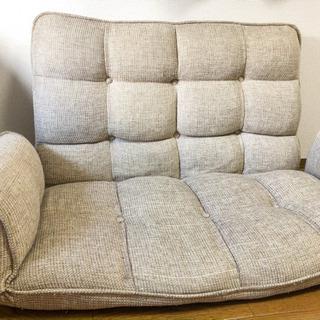 【お取引中】カウチソファ 2人がけ 簡易ベッド