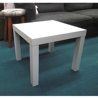 札幌【まっ白いキュービックテーブル】幅45×高さ37cm ホワイ...