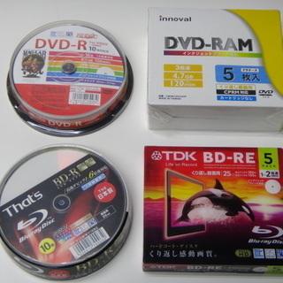 未開封 TDK BD-RE、That's BD-R、DVD-RA...