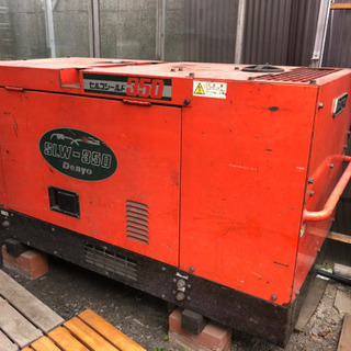 ◆デンヨー 防音型ディーゼルエンジン 溶接機 発電機 三相200...