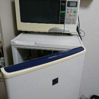 電子レンジ、冷蔵庫、洗濯機、トースター、ベッド一式【動作確認済】