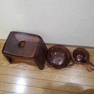 お風呂の椅子、桶、手桶