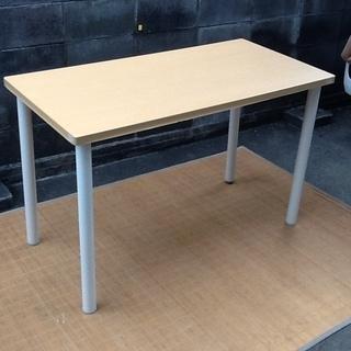 【千円】天板120×60㎝ ニトリのテーブル 作業机 ミーティン...