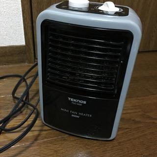 TEKNOS ミニファンヒーター 温度調節付