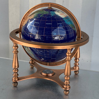 格安で!地球儀◇ラピス地球儀◇ラピスラズリ◇インテリア◇世界地図...