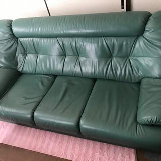 ソファ 2つ セット 緑 グリーン 値下げ可能