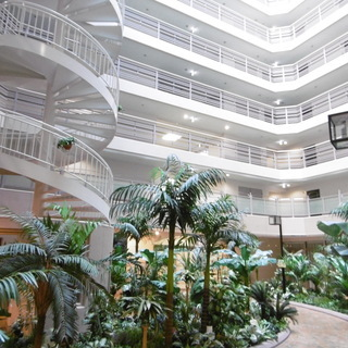 ◆リゾートホテルを思わせる天窓から陽光眩しいエントランスでゲスト...