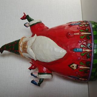 【サンタの置物】Classic Santa with Birds