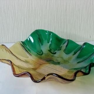 ◆クラタクラフトグラス ☆ ラスター彩 色硝子 / ガラス皿 /...