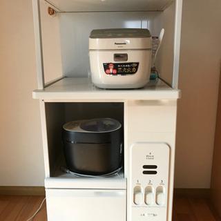レンジ台 米びつ付き