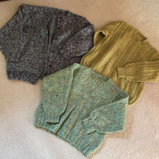 「ひとり親」手編み セーター カーディガン レディース