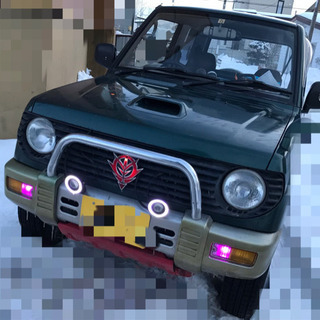 三菱  パジェロミニ H56A ターボ 切替4WD  5MT 交...