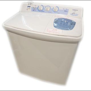 美品/日立◆2層式洗濯機 青空/PS-45A-W◆4.5㎏/20...