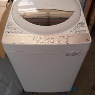 洗濯機《分解洗浄済》「内外共に美品」 東芝 5.0㎏ 2016年製