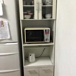 【取引中】白 食器棚  2/23,24,29,3/1自宅まで引き...