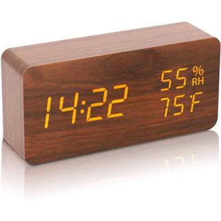 時計 デジタル時計 LED 表示 音声感知 USB 温度湿度計 ...