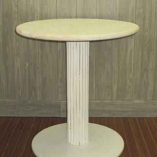 stp-0065 丸テーブル ホワイト アンティーク調 白  木...