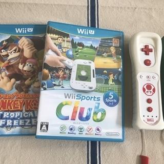 純正品:Wii U ソフト2種+コントローラー2つ