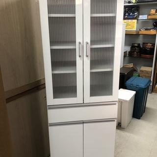 【リサイクルショップどりーむ荒田店】967 食器棚 棚 ホワイト
