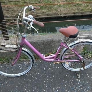 (chariyoshy 出品)24インチ 自転車 ピンク