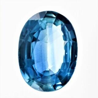 宝石ソーティング付き 天然 ブルーサファイア 0.873ct ル...