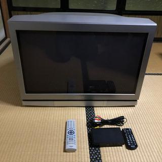 東芝 32型 ブラウン管テレビと地デジチューナー