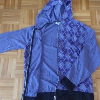 春物 しまむら メンズ 長袖 薄紫 LL