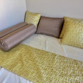 クッション セット 未使用 ホテルの様なベッドに