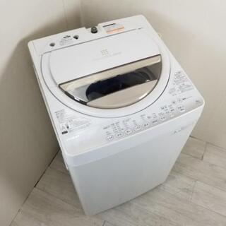 中古 高年式 全自動洗濯機 東芝 風乾燥機能 6.0kg AW-...