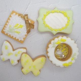 ミモザのアイシングクッキー&透明度抜群のシャカシャカクッキーを作...