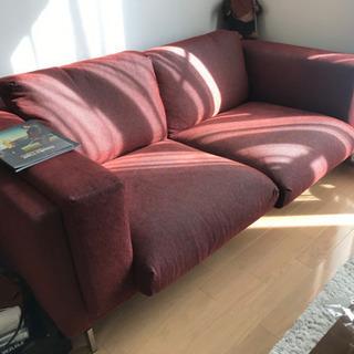 定価8万 IKEA 3人掛け ソファ レンガ色