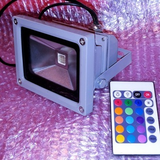 LEDマルチカラー&エフェクト投光器 リモコン付き RGBW  ...