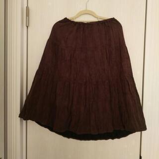 🐼茶色のロングスカート