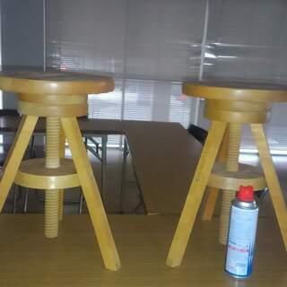 木製イス2脚