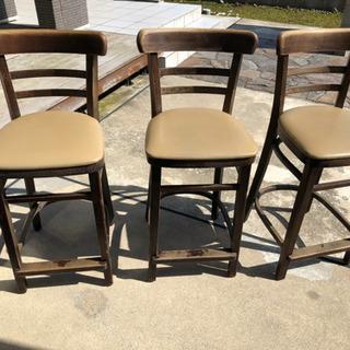 バーカウンターの椅子 3脚