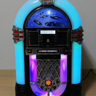 レインボーに光るジュークボックス調CDプレイヤー『シカゴ』SRA...