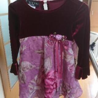子供花柄ドレス