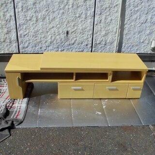 JM6366)木製スライド棚 テレビ台 横幅が広がります 固定さ...