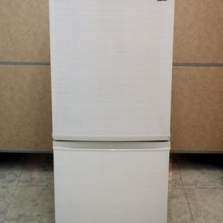 美品 SHARP シャープ 冷凍冷蔵庫 SJ-D14D-W 13...
