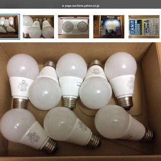 パナソニック LED電球E26. 60W相当7.3w 昼光色 調...