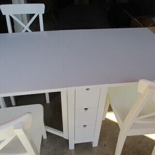 IKEAゲートレッグテーブルセット 椅子3客  INGOLF20...