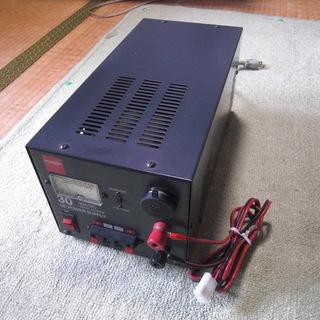 直流安定化電源(30A) + 無線機(35W)