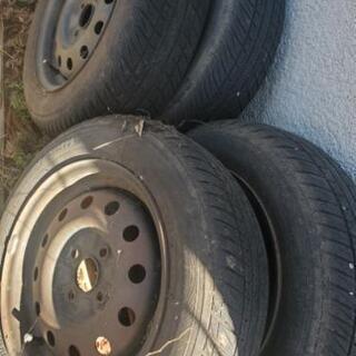 タイヤ4本 14インチ 鉄っちん 無料