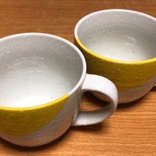 スープマグカップ 2個 (中古美品)
