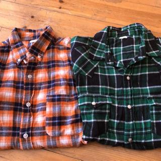 GU ネルシャツ美品数回着用 2枚セット