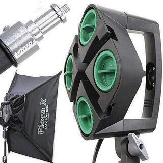 米国LINCO社製 撮影照明セットFloraX 4灯ライトソケッ...