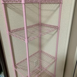 スチールラック ピンク