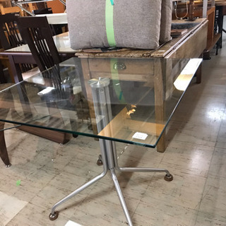 JF00147 ガラステーブル ハイテーブル