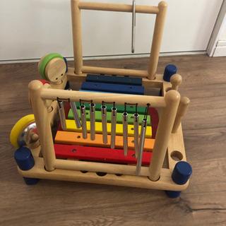 木の楽器 おもちゃ 500円
